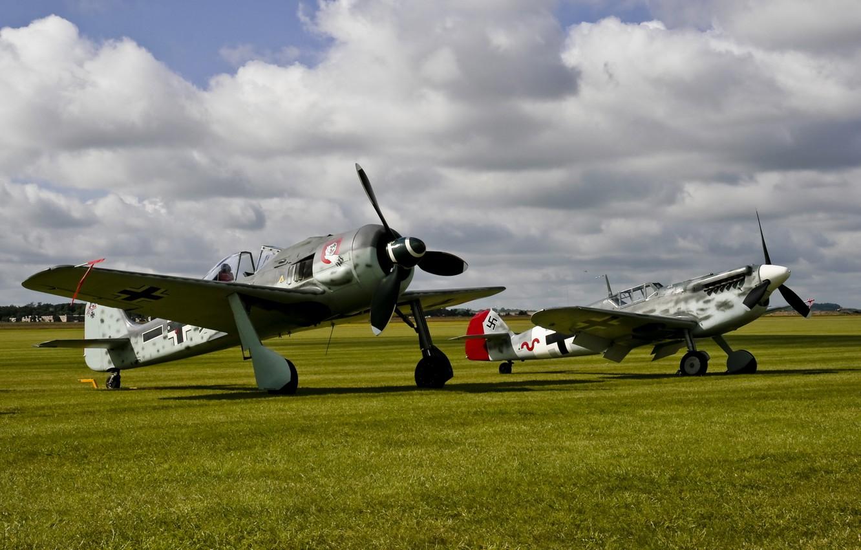 Обои войны, bf.109, мировой, Fw-190, истребители, второй. Авиация foto 6