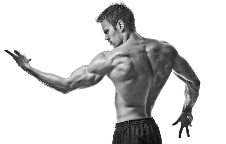 Фото обои sport, muscles, black and white, pose, gym
