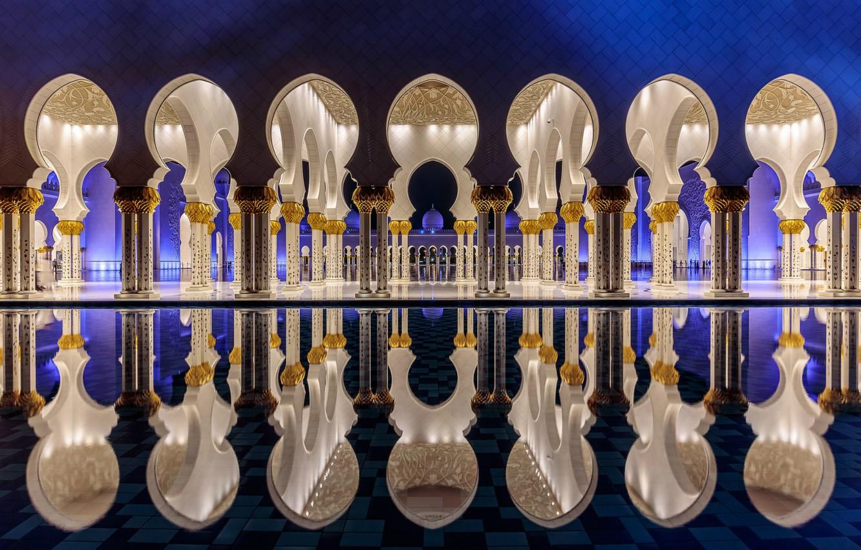 Фото обои city, город, Abu Dhabi, ОАЭ, столица, Мечеть шейха Зайда, Абу-Даби, UAE, capital, United Arab Emirates, …