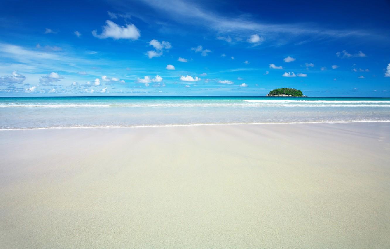 Фото обои песок, море, пляж, рай