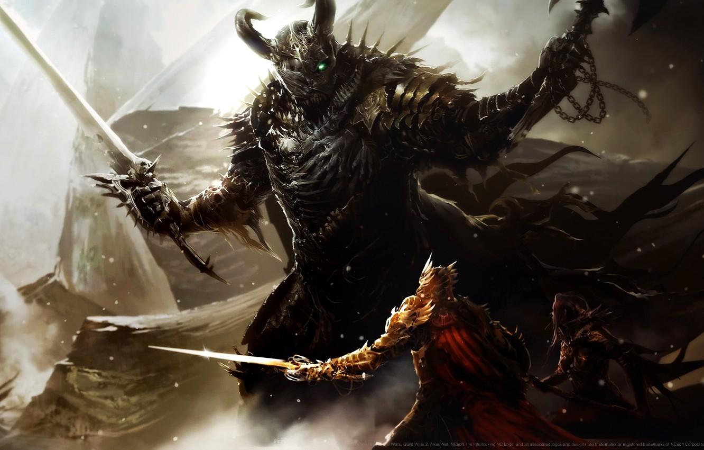 Фото обои доспехи, шлем, битва, топор, мечи, воительница, воины