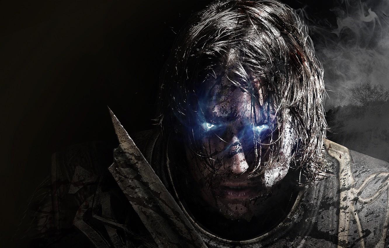 Фото обои Взгляд, Дым, Свет, Воин, Призрак, Экипировка, Warner Bros. Interactive Entertainment, Monolith Productions, Middle-earth: Shadow of ...
