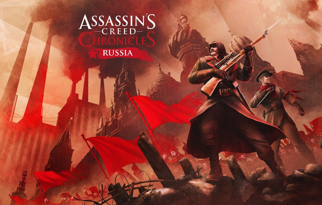 Фото обои Россия, Арт, Russia, Асасин, Assassin's Creed: Chronicles, Николай Орлов