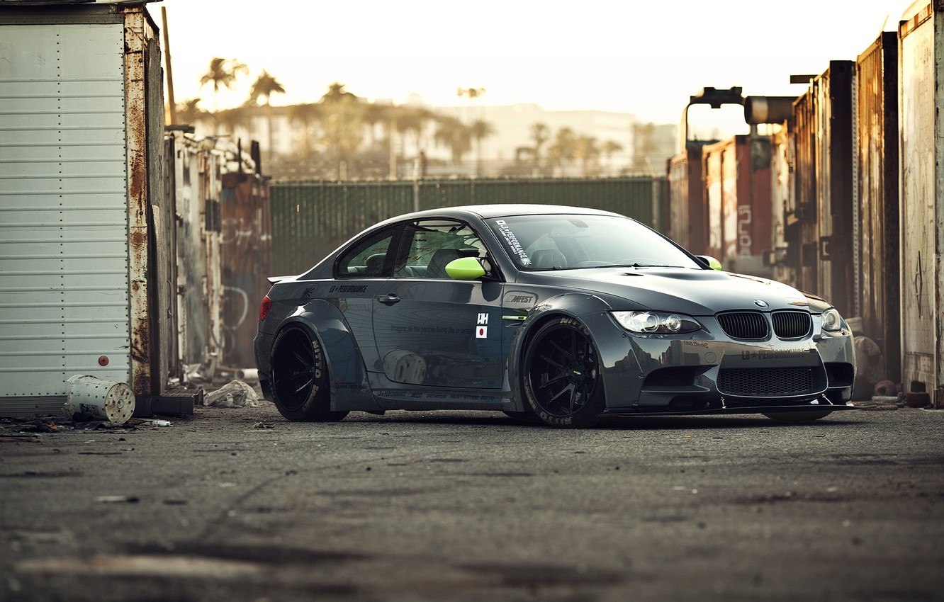 Фото обои bmw, бмв, stance works, lb performance m3, stance motion