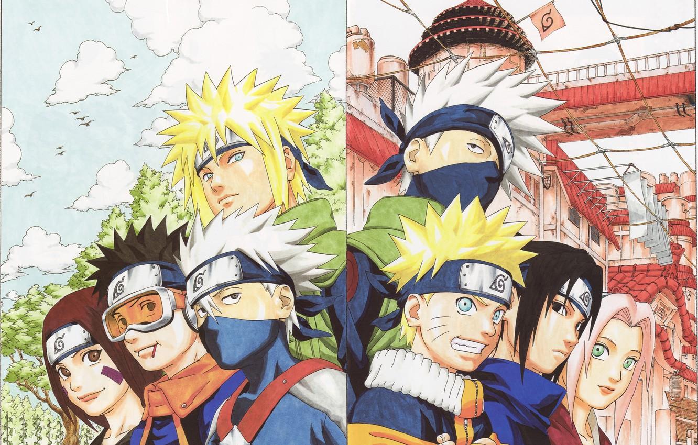 Фото обои Anime, naruto, sakura, sasuke, kakashi, rin, obito, minato