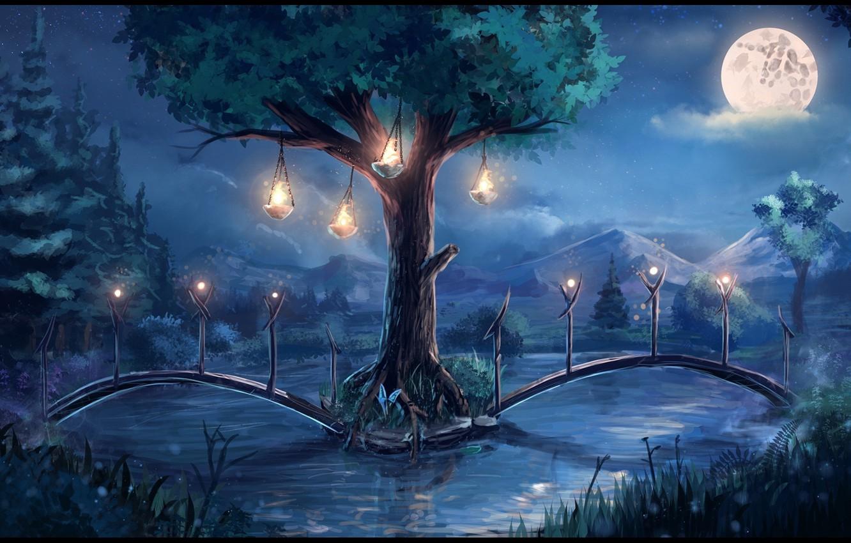 Сказочные открытки ночь, открытка