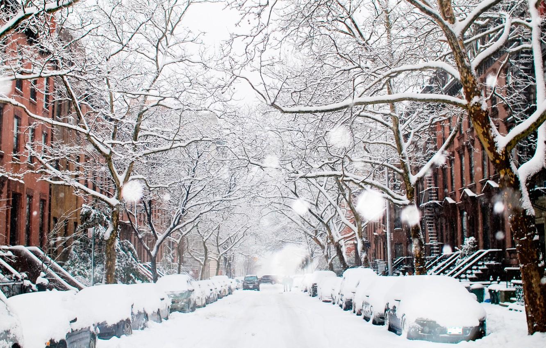 Обои snow, winter. Города foto 14