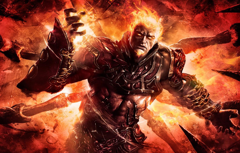 Фото обои огонь, руки, ярость, парень, God of War, Ascension