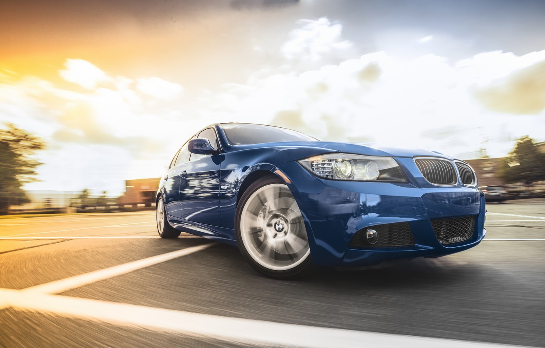 Обои синяя, 335i m, sport, blue, Bmw, 3 серия, e90. Автомобили foto 6