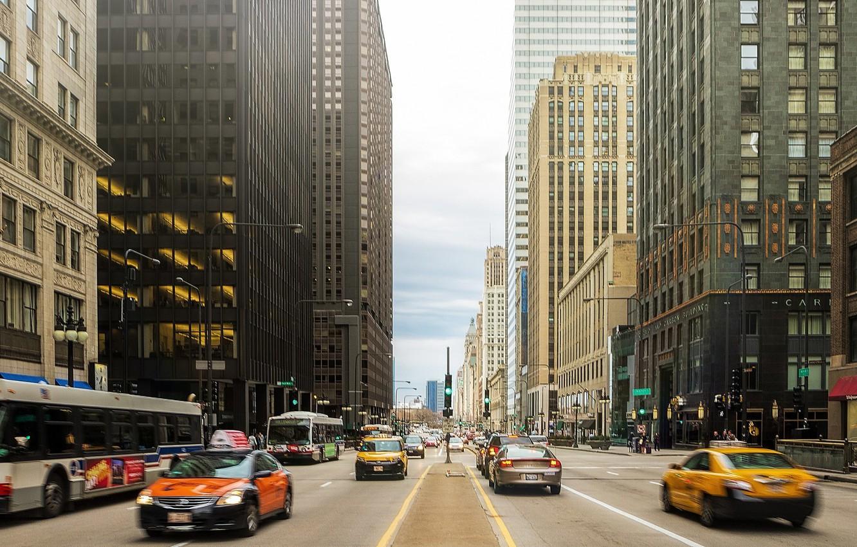 Обои высотки, чикаго, chicago, небоскребы, center. Города foto 10