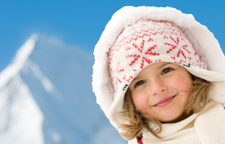 Обои шарф, Девочка, шапка, малышка. Разное foto 7