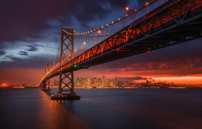 Обои калифорния, bay bridge, san francisco, california. Города foto 10