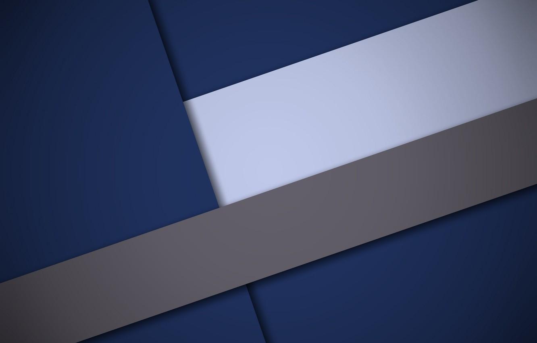 Фото обои белый, линии, синий, геометрия, color, material- design