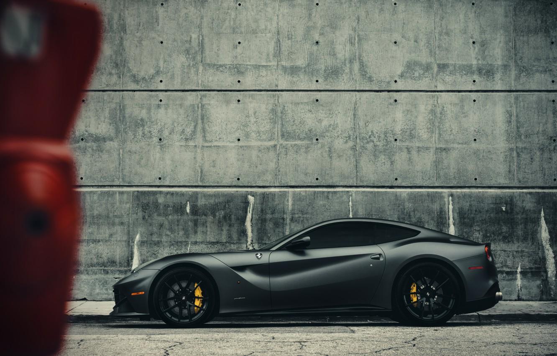 Фото обои Ferrari, Miami, Side, Gothic, Supercar, Berlinetta, F12, Wheels, Brake