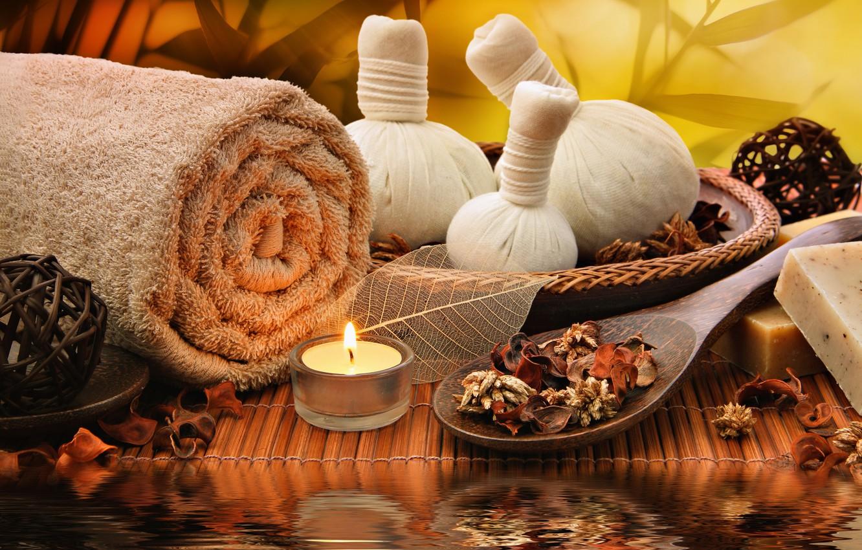 Обои salt, Spa, soap, towel, bath, candle. Разное foto 14