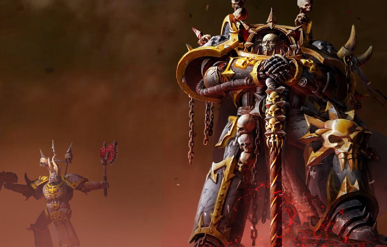 Фото обои хаос, dawn of war 2, warhammer 40k, retrebution, космодесан, элифас
