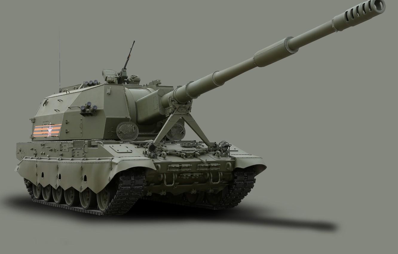 Фото обои георгиевская лента, 9 мая, бронетехника, сау, вс россии, самоходная артиллерийская установка, вооруженные силы, парад победы, …
