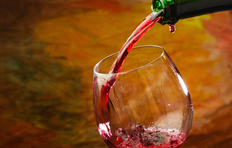 Фото обои вино, красное, бокал, бутылка