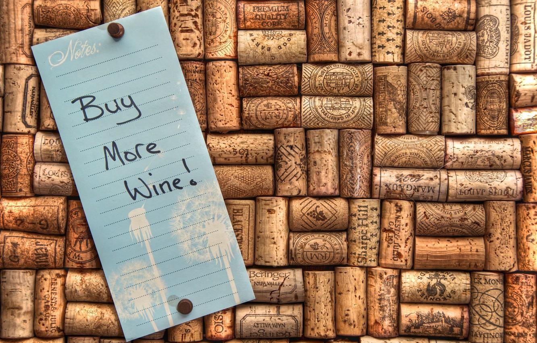 Фото обои вино, записка, пробки