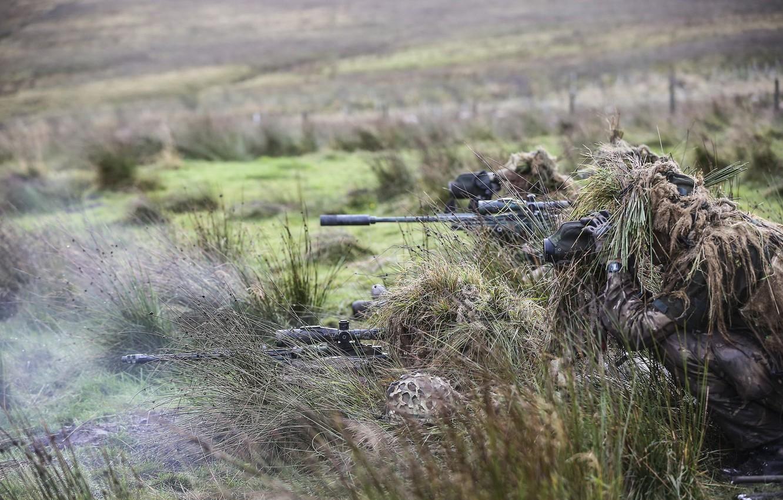 Фото обои оружие, армия, солдаты, снайперы