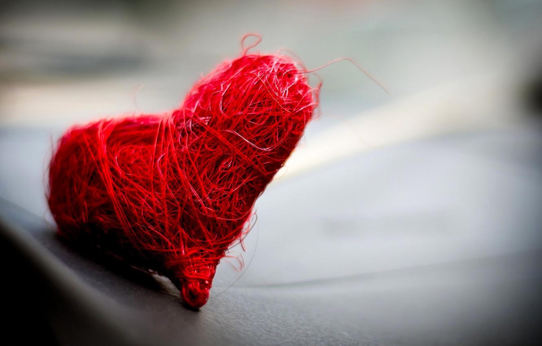 Фото обои макро, красное, сердечко, нежно, романтично