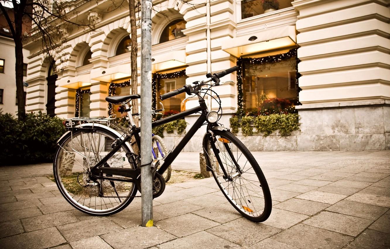 Фото обои bicycle, photography, street, lightining