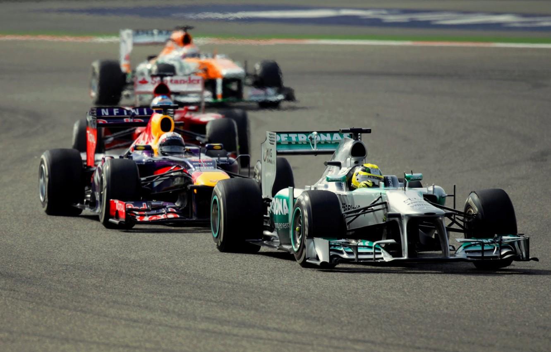 Фото обои Race, Red Bull, Force India, Nico, Mercedes AMG