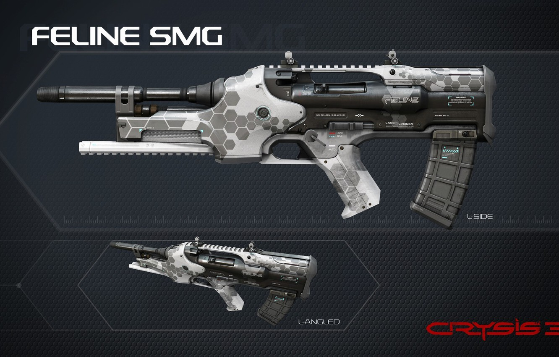 Фото обои wallpaper, Crysis, gun, game, weapon, texture, rifle, Crysis 3, assault rifle, SCI Fi, CryEngine, Critek, …