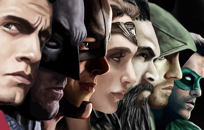 Фото обои batman, superman, green lantern, ryan reynolds, wonder woman, flash, arrow, henry cavill, justice league, green …