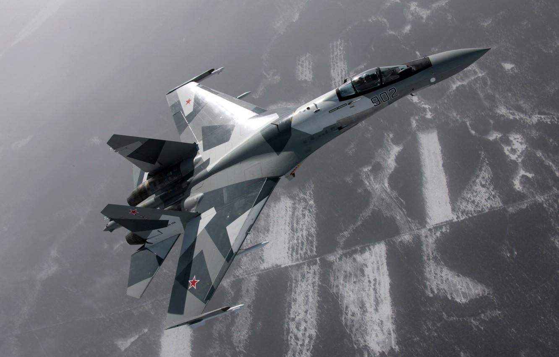 Обои Su-35S, Самолёт. Авиация foto 10