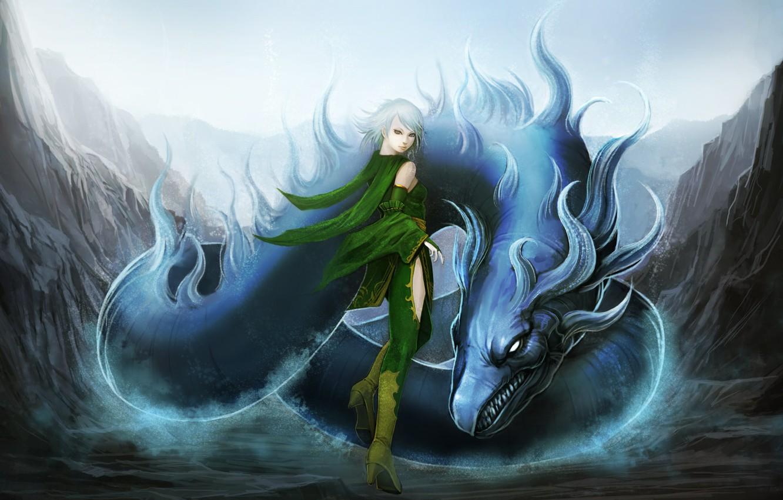 Фото обои дракон, аниме, final fantasy