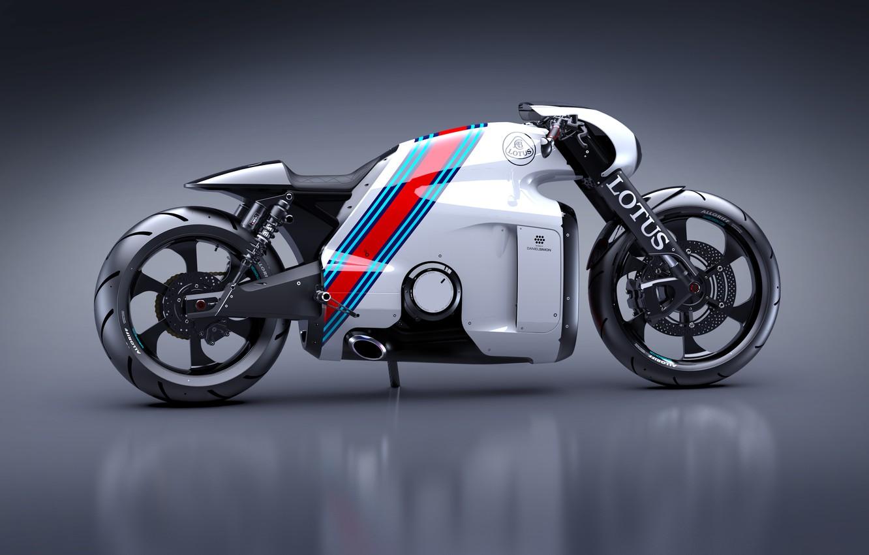 Фото обои Concept, Концепт, Lotus, Мотоцикл, Лотус, Design, Superbike, C-01