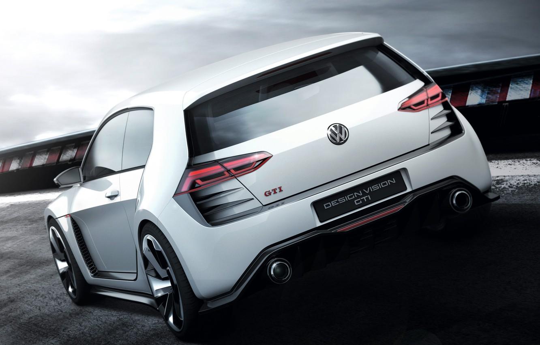 Фото обои авто, Concept, Volkswagen, вид сзади, Golf, GTI, фольксваген, Design Vision