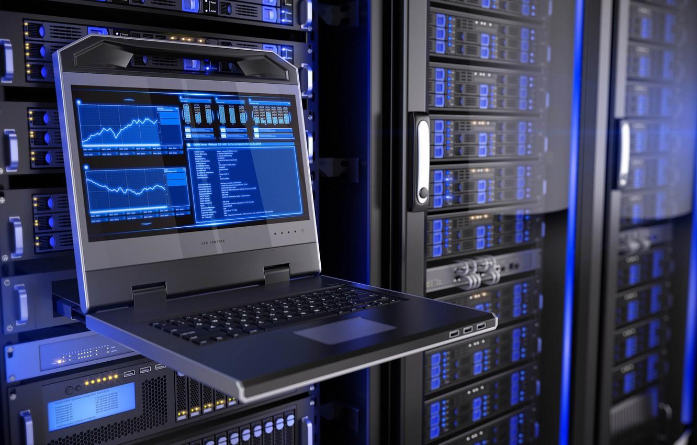 Фото обои компьютер, огни, свечение, размытость, wallpaper, ноутбук, hi-tech, боке, графики, схемы, technology, обмен, данных, cyberspace, data …