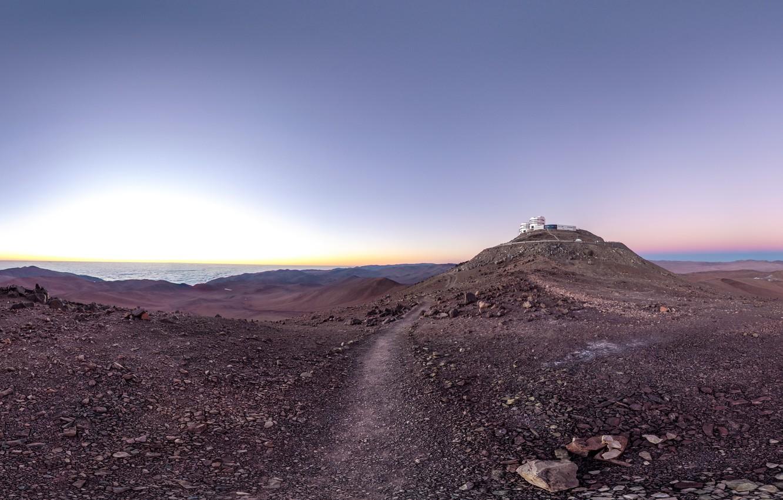 Фото обои обсерватория, Chile, Paranal Observatory, road of astronomy paradise