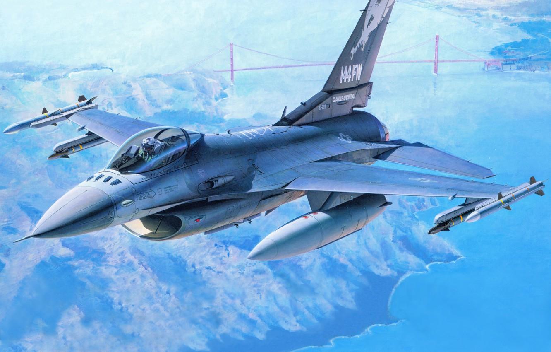 Обои Самолёт, F16. Авиация foto 6