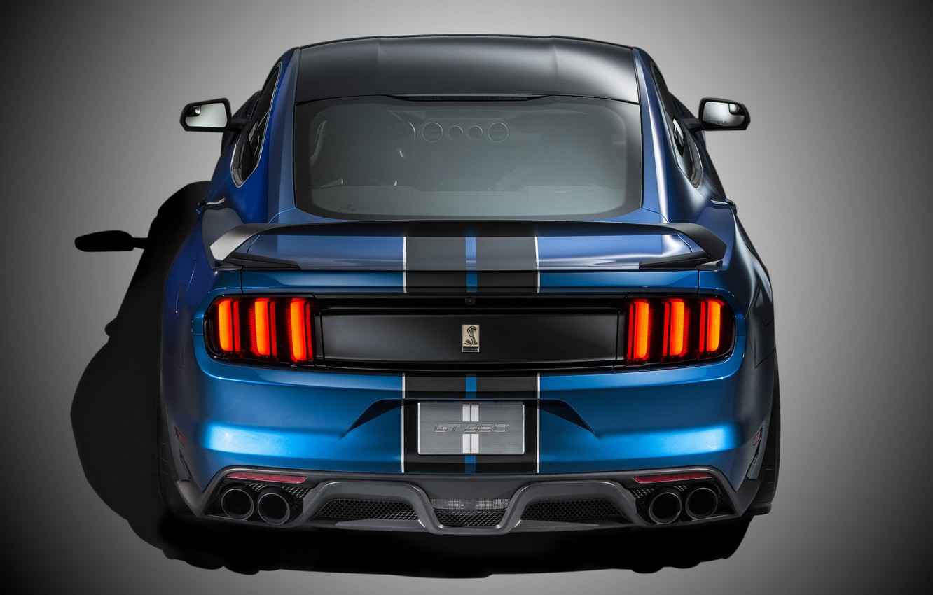 Фото обои Mustang, Ford, Shelby, Muscle, Car, Rear, 2015, GT350R