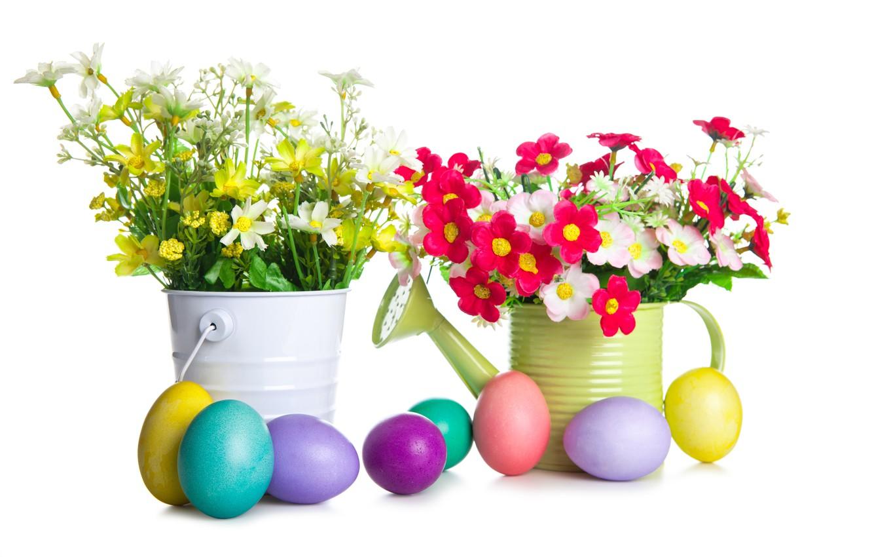 Фото обои цветы, праздник, яйца, пасха