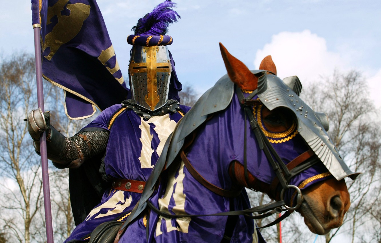 Обои доспехи, Рыцарь, лошадь. Разное foto 7