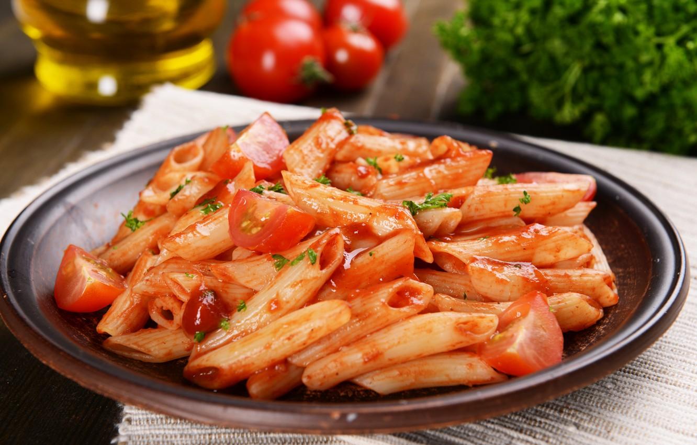 Фото обои грибы, еда, томат, food, mushrooms, паста, tomato, pasta