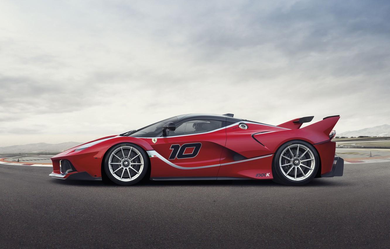 Фото обои Феррари, Ferrari, Red, Side, View, Cуперкар, FXX K