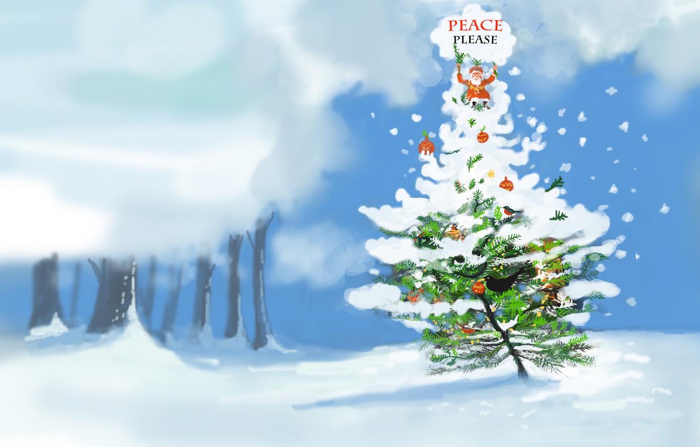 Фото обои праздник, Christmas, Please Peace
