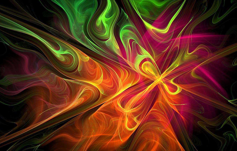 Обои дым, свет, Цвет, фрактал. Абстракции foto 6