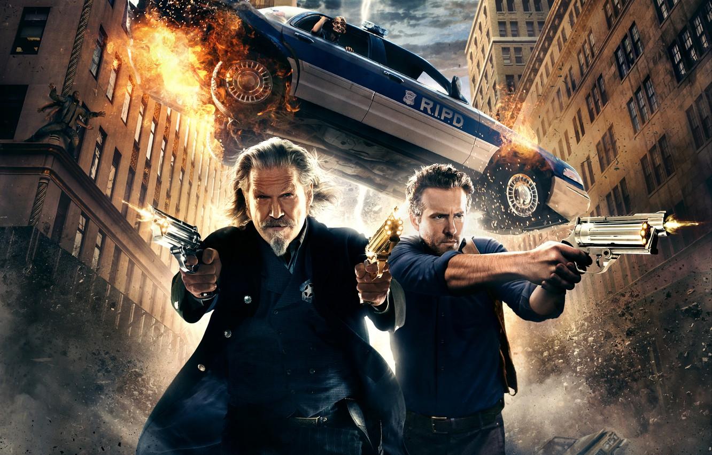 Фото обои car, wallpaper, fire, gun, Ryan Reynolds, Fantasy, sky, Shooting, Lightning, smoke, police, eyes, cloud, wallpapers, …