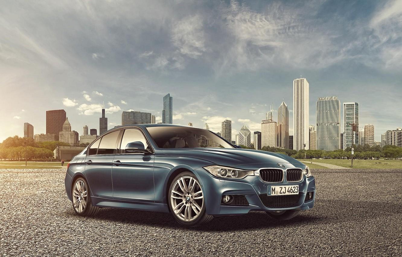 Фото обои город, бмв, BMW, небоскрёбы, F30, Sedan, 3 Series, Joshua Amenyo