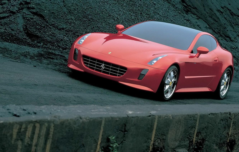 Фото обои 2005, by Giorgetto Giugiaro, Красивое красное, Tokyo Motor Show, Ferrari GG50