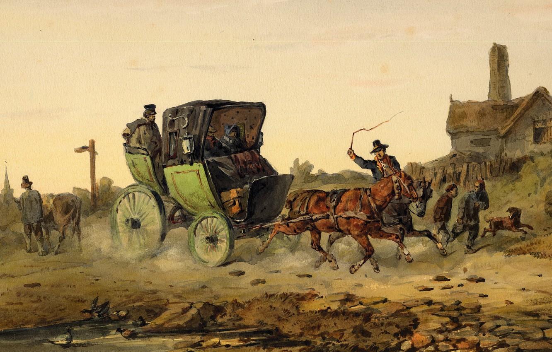 Фото обои circa 1850, Painting, Watercolor