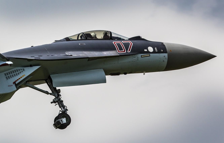 Фото обои истребитель, кабина, Су-35, реактивный, многоцелевой, сверхманевренный