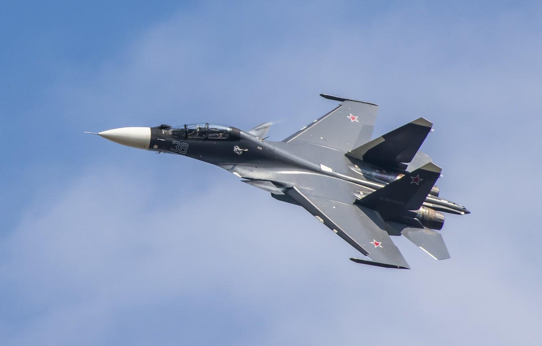Обои Су-30см, двухместный, многоцелевой, российский. Авиация foto 7