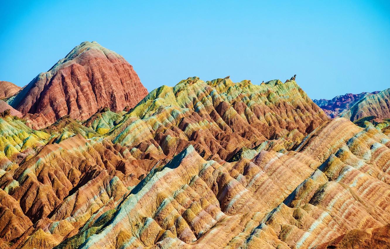 Фото обои горы, природа, парк, фото, Китай, Zhangye, Danxia